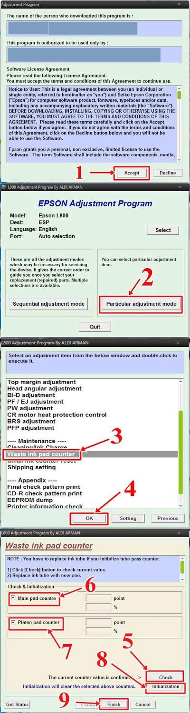 Cara Reset L120 : reset, Reseter, Printer, Epson, Forlessfasr