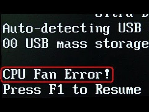 how to fix a cpu fan error when you boot up computer the error