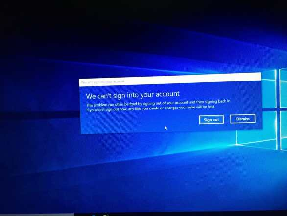 can't sign in windows 10