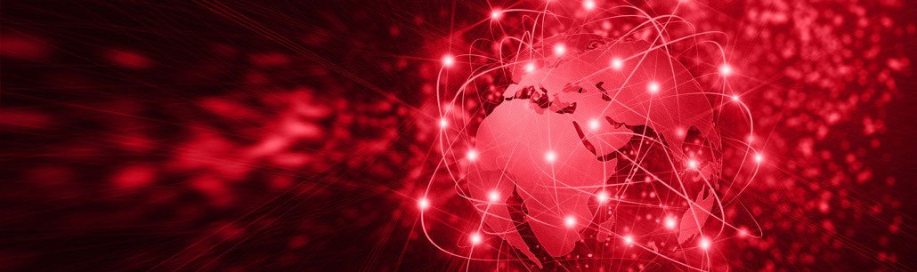 Red slider image of global IT infrastructure