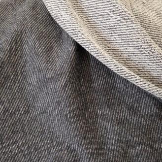 dunkelgrauer (Sommer-) Sweat aus Baumwolle/Elastan
