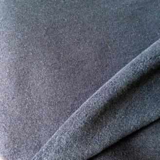 nachtblaues Fleece mit Strick-Außenseite aus Polyester