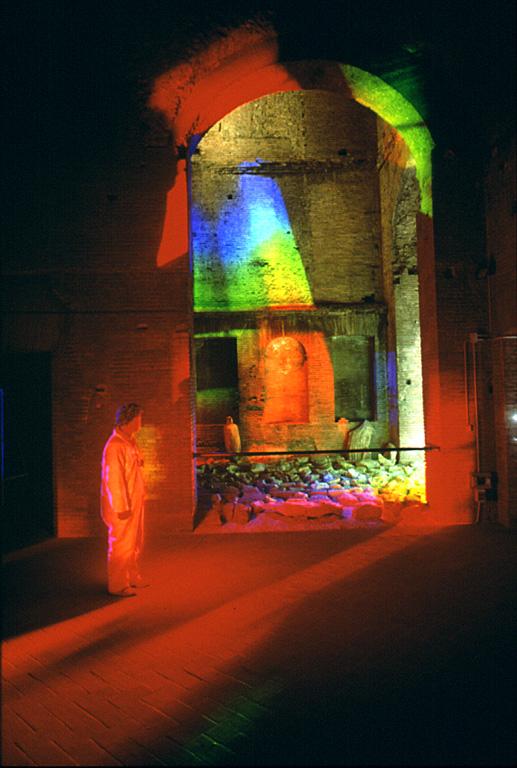 Prism - Solar Spectrum light art , Secrets of the Sun, Rome, by Peter Erskine