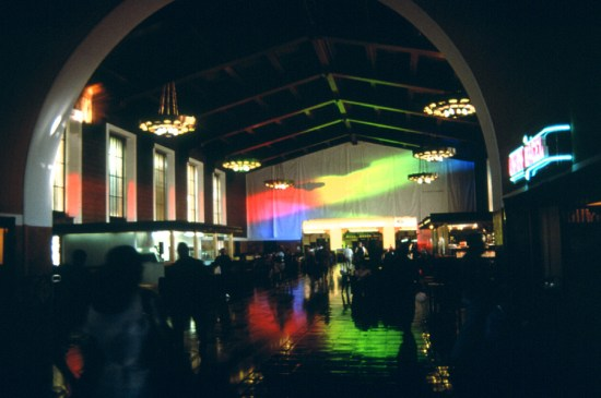 Prism - Solar Spectrum light art for a Los Angeles Union Stationt by Peter Erskine