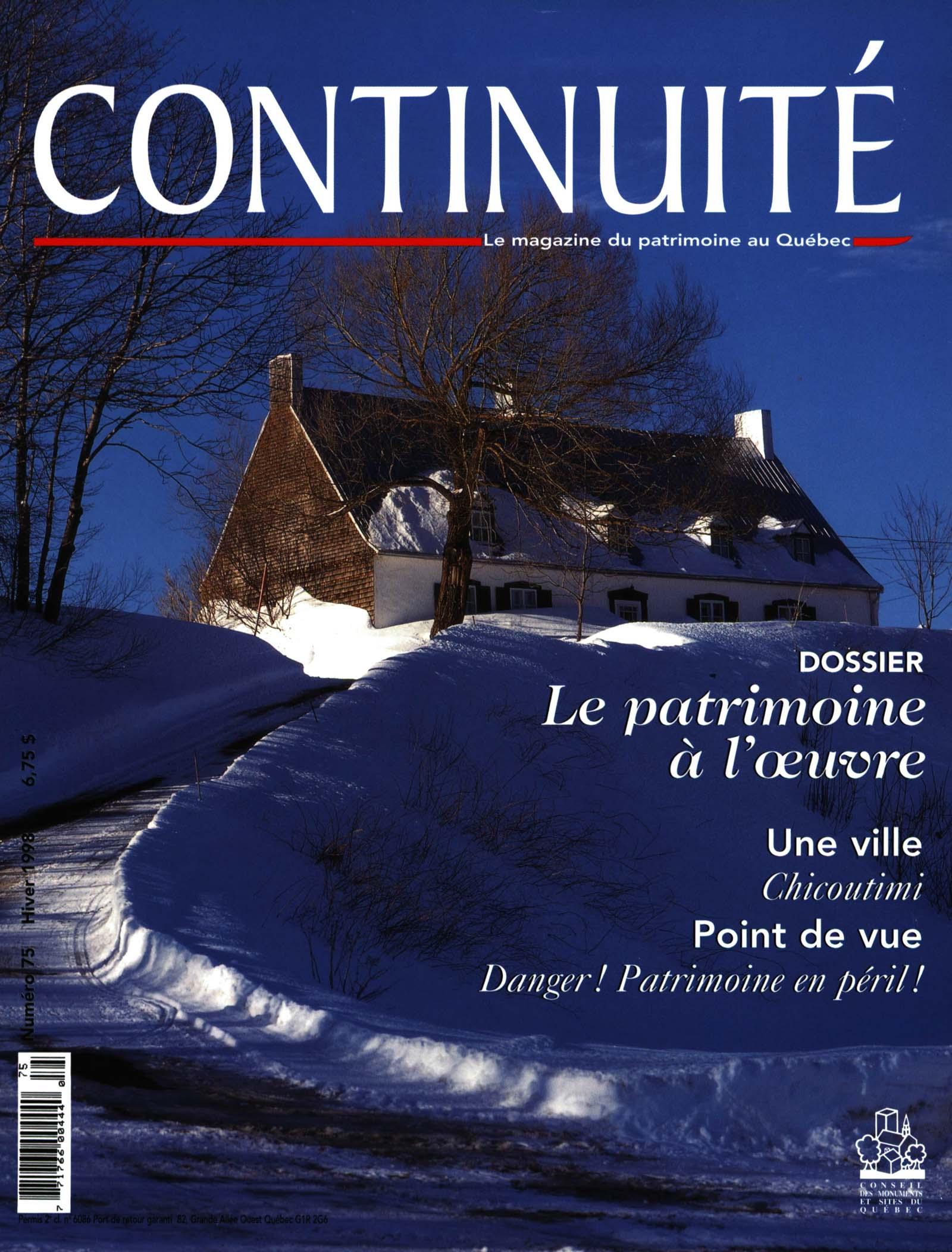 Feuilleter Magazine Point De Vue : feuilleter, magazine, point, Patrimoine, L'oeuvre., Continuité, Érudit