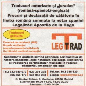 LEGTRAD, TRADUCERI AUTORIZATE SI JURADAS