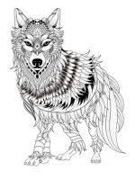 Wolf   Ausmalbilder fr Erwachsene