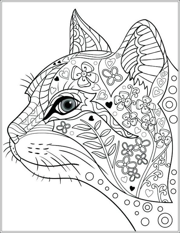Katze 5  Ausmalbilder fr Erwachsene