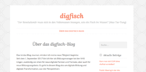 Screenshot Blog digfisch.wordpress.com von Martin Lindner