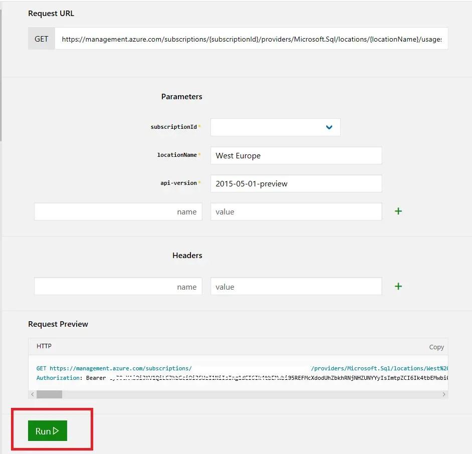 REST API URL Request
