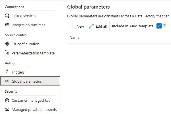 ADF and GlobalParameter