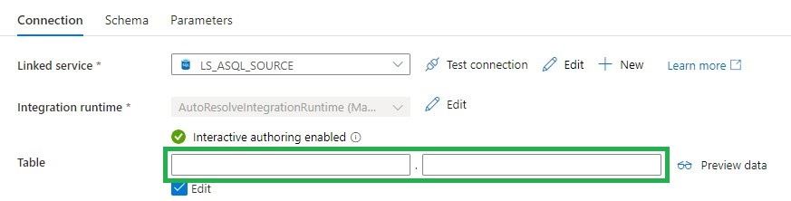 Dataset SQL Source