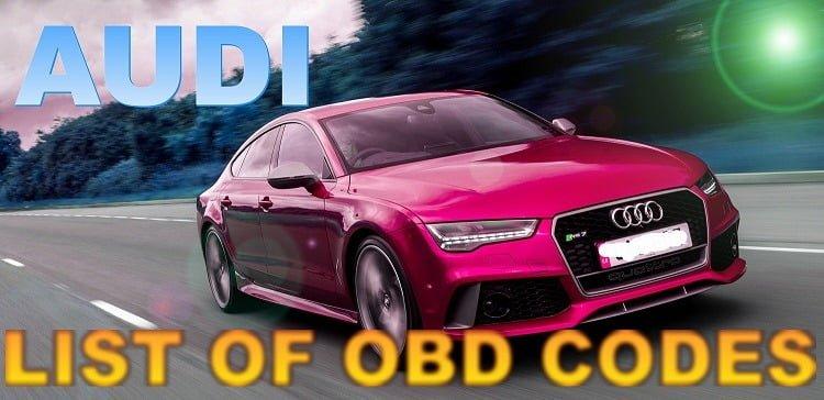 List Of 8000 Obd 1 Obd 2 Codes Audi Cars Erwin Salarda