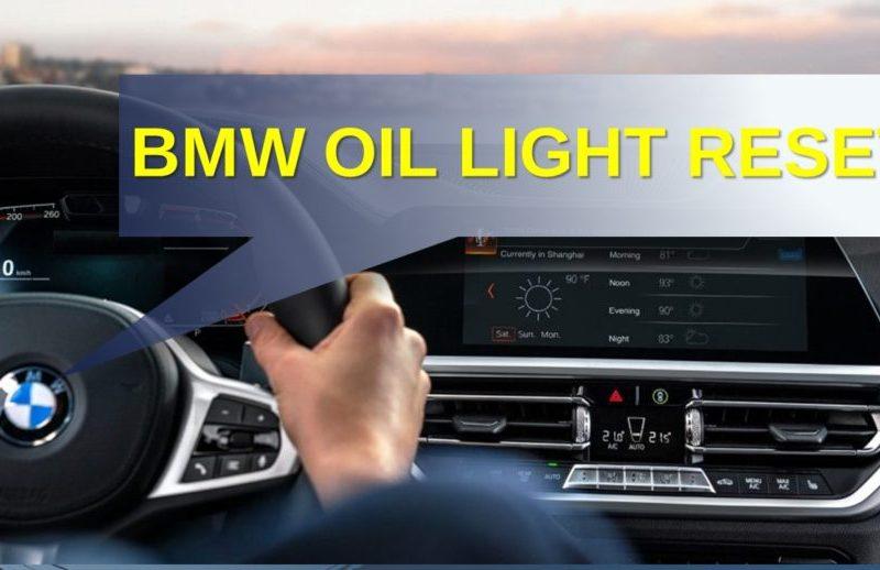 BMW Oil Light Reset - Reset Oil light After Oil Change in