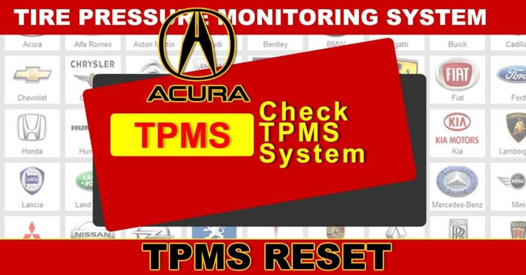 Check Tpms System >> Acura Tpms Reset Procedure Tire Pressure Monitor System