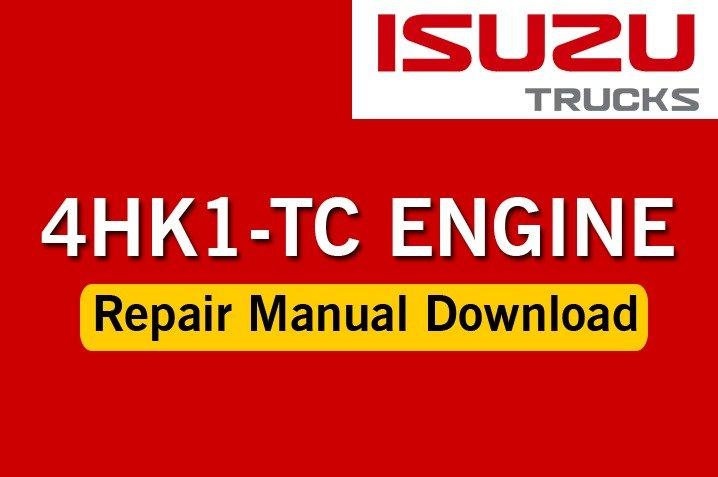 Truck Repair Manual Isuzu 4hk 1 Engine Service Manual
