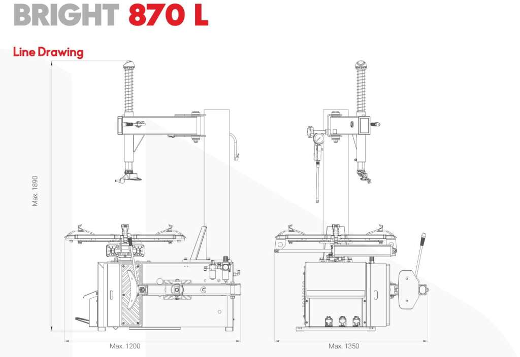 Best Seller BRIGHT 870 Tire Changer in Philippines