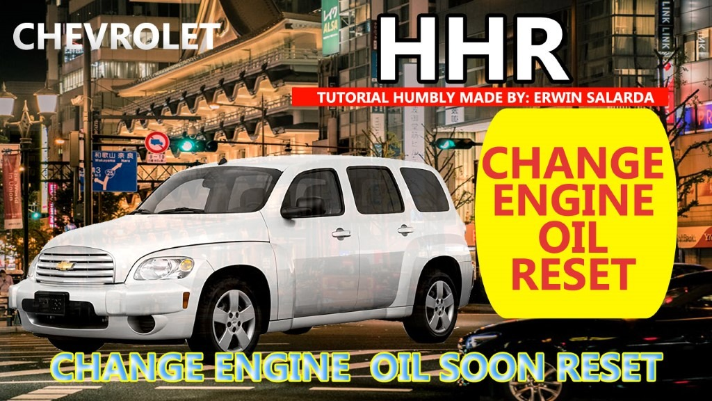 How To Chevrolet Hhr Oil Life Reset Tutorial