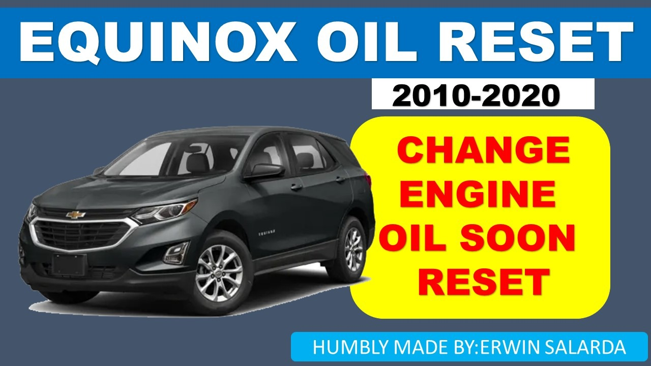 HOW-TO: Chevrolet Equinox 2010-2020 Oil Life Reset