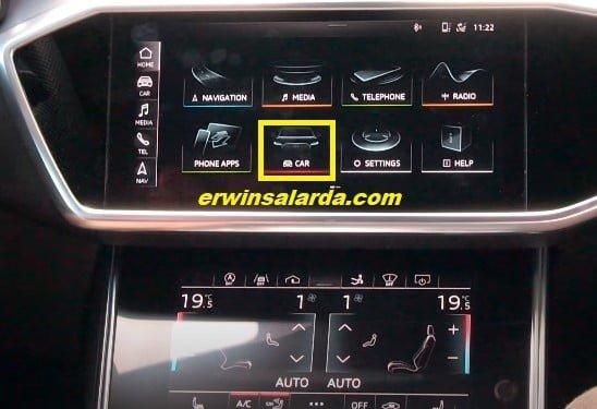 Car menu Multimedia Interface
