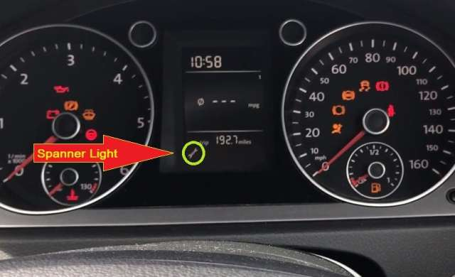 Volkswagen Passat Spanner service light reset- the spanner light is displayed