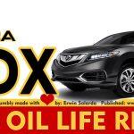 How To Reset Acura Rdx Service Maintenance Light