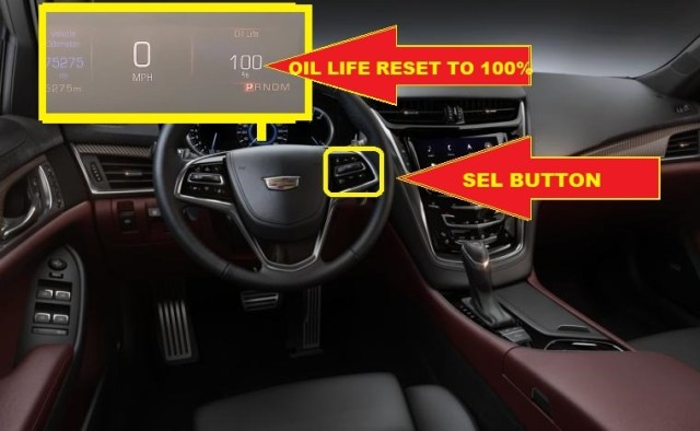 Cadillac CTS Oil Service Light Reset -roil life reset to 100%