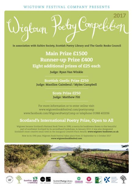 Wigtown Poetry Competition poster.