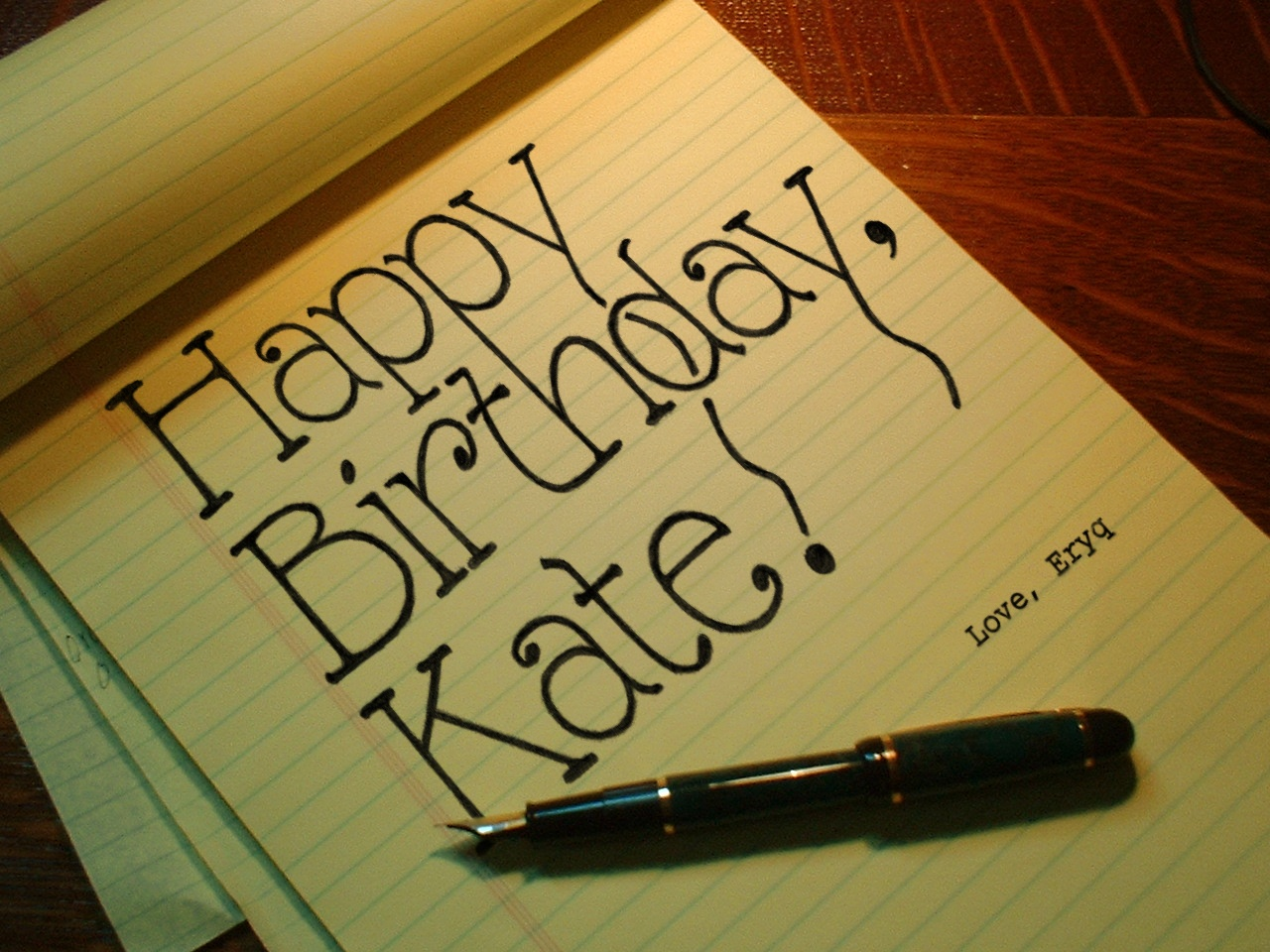 Eryq Happy Birthday Kate 2005