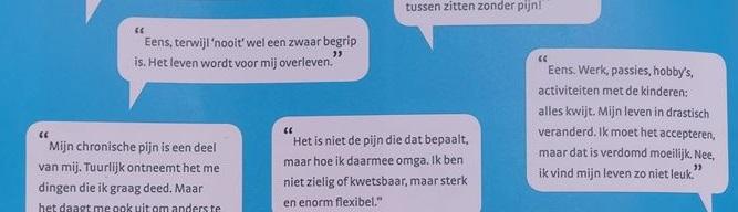 Selectie uit Maartens Magazine van uitspraken over leven met chronische pijn
