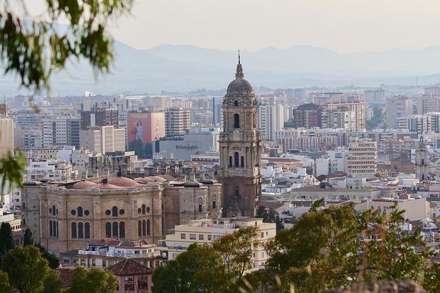 Stadsgezicht Malaga kathedraal
