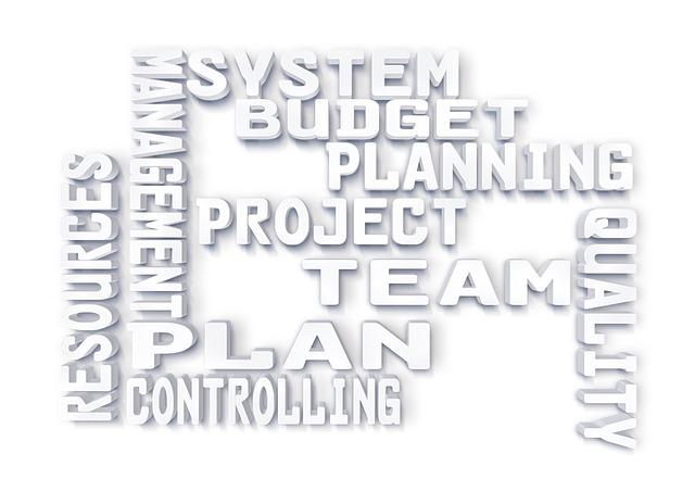 Woordenwolk Projectplanning