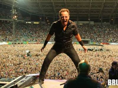 Bruce Springsteen live on stage