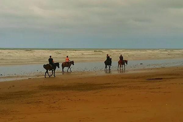 La belleza de montar a caballo en la playa