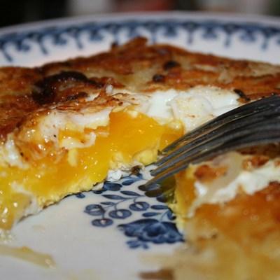 Ontbijt met ei en aardappel