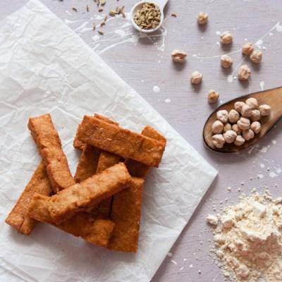 Frietjes van kikkererwtenmeel recept