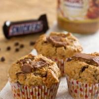Pindakaas cupcakes met snickers