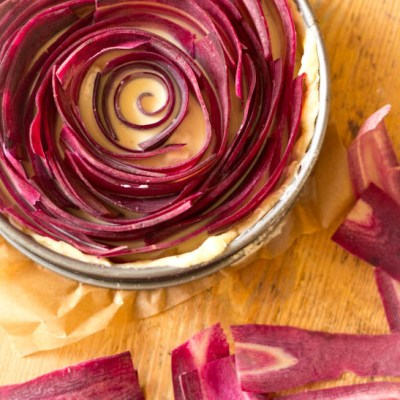 Groentetaartje met paarse oerwortel
