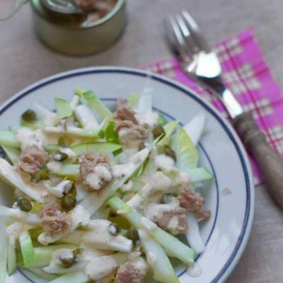 Witlof salade met appel en tonijn