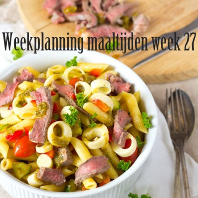 Weekplanning maaltijden week 27