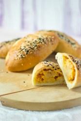 Aardappel kaas peper broodjes