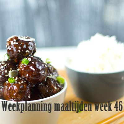 Weekplanning maaltijden week 46