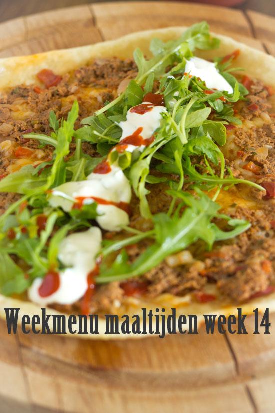 Weekmenu maaltijden week 14