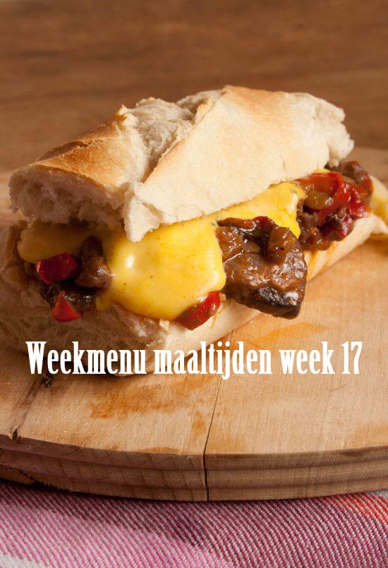 Weekmenu maaltijden week 17