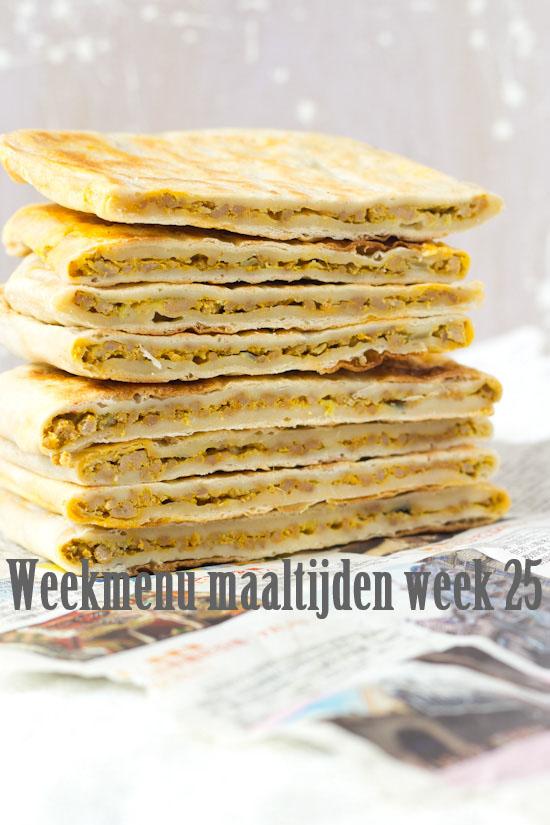 Weekmenu maaltijden week 25