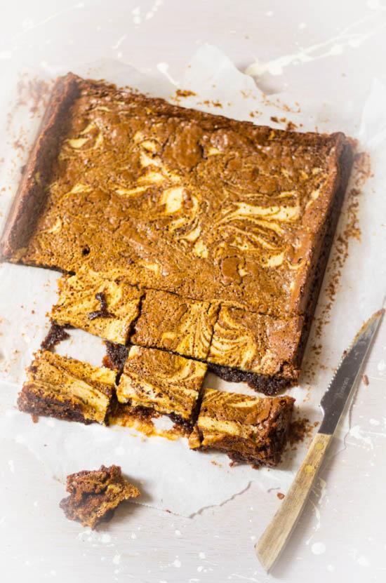 Gemarmerde roomkaas brownies recept