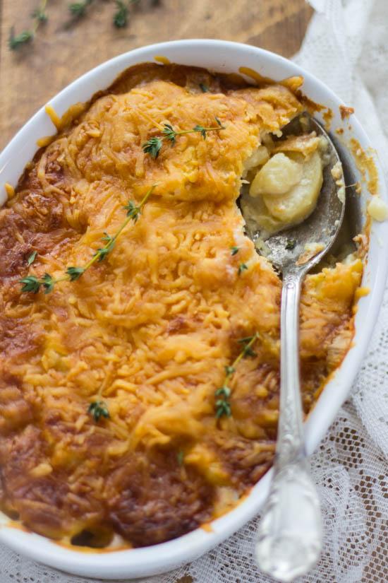 Recept romige tijm aardappel gratin