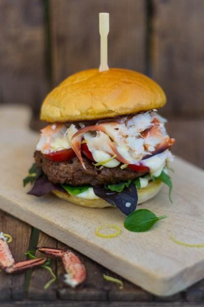 Hamburger met Noordzee krab