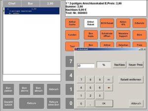Kassensoftware mit Artikelrabatten