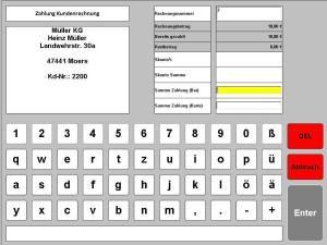 Kassensoftware Zahlung Rechnung